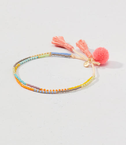 Image of Tai Jewelry Tropical Mix Double Strand Pom Pom Bracelet