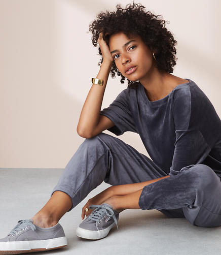 Lou & Grey Velour Jumpsuit