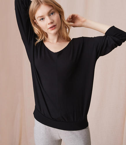 Image of Lou & Grey Signaturesoft Slouchy V-Neck Top