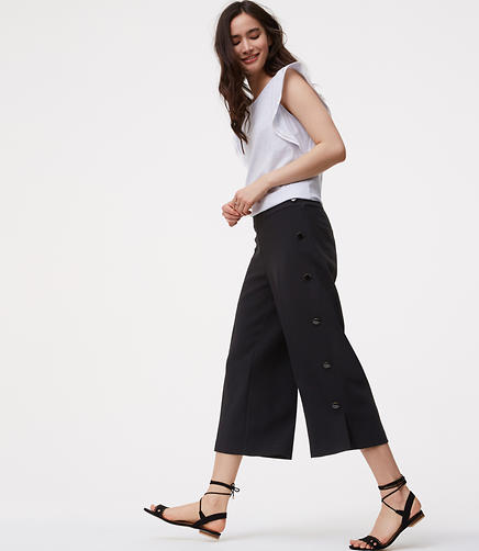 Image of Side Button Culottes