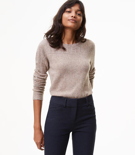 Relaxed Pointelle Sweater