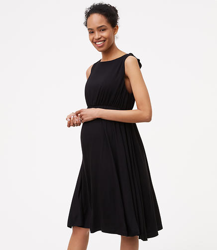 Image of Petite Maternity Ruffle Back Dress