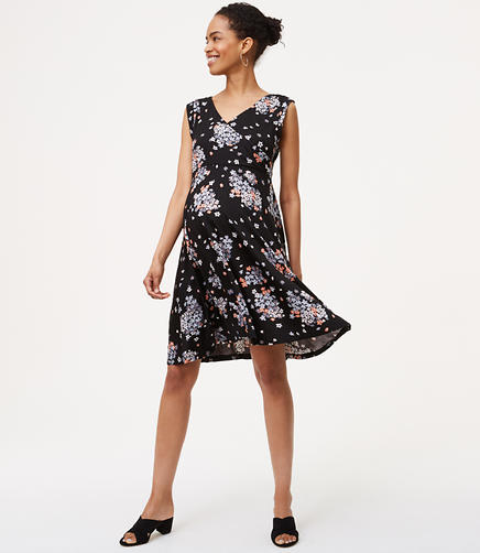 Image of Petite Maternity Bouquet Toss Wrap Back Dress