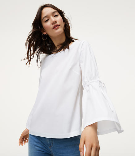 Image of Tied Bell Sleeve Top