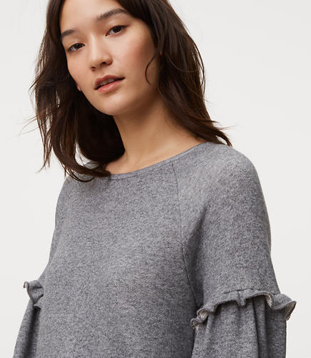 Image of Ruffle Sleeve Sweatshirt
