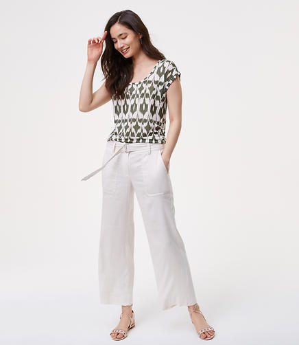 Image of Petite Belted Culottes