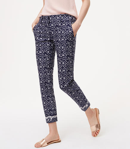 Image of Petite Floral Essential Skinny Ankle Pants in Julie Fit