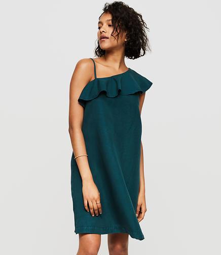 Lou & Grey One Shoulder Dress