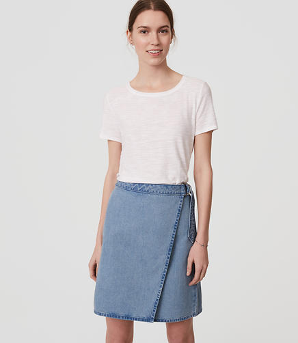 Image of Denim Wrap Skirt