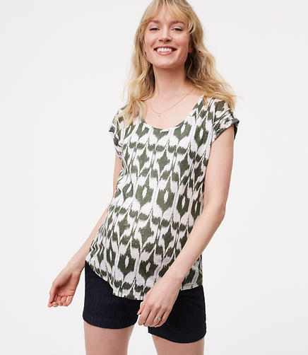 Image of Maternity Islander Linen Cap Sleeve Tee