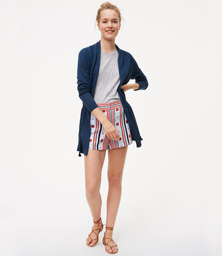 Image of Petite Tasseled Drawstring Cardigan