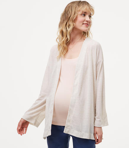 Image of Maternity Lightweight Open Cardigan