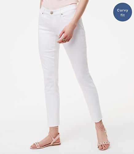 Image of Curvy Fresh Cut Skinny Jeans in White