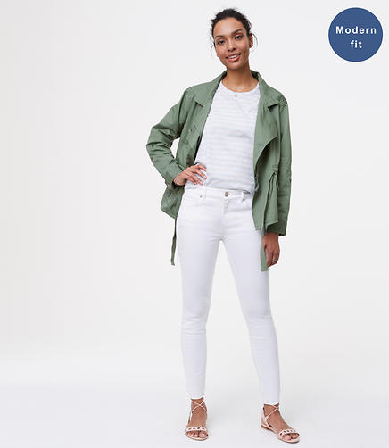 Image of Petite Fresh Cut Skinny Jeans in White