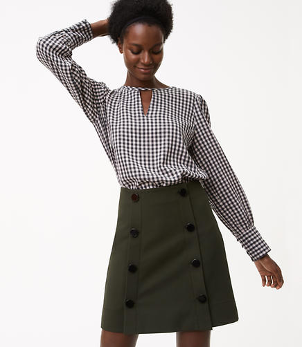 Image of Modern Buttoned Skirt