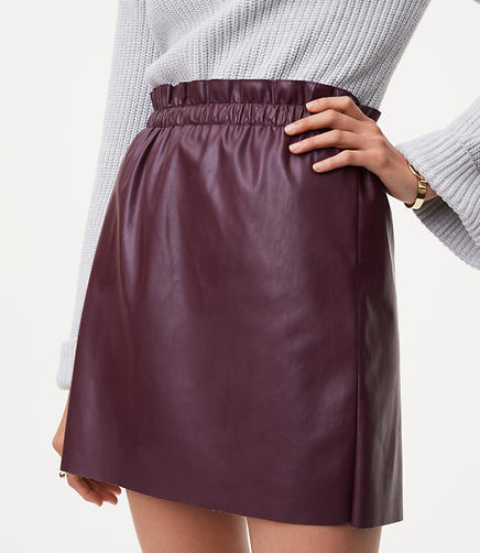 Image of Faux Leather Shift Skirt