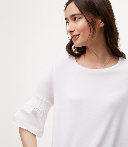 Image of Smocked Sleeve Top