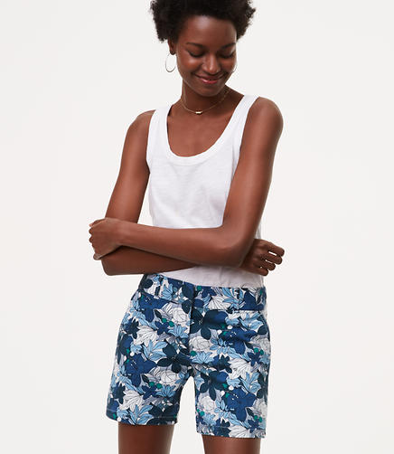 Image of Hibiscus Riviera Shorts with 6 Inch Inseam