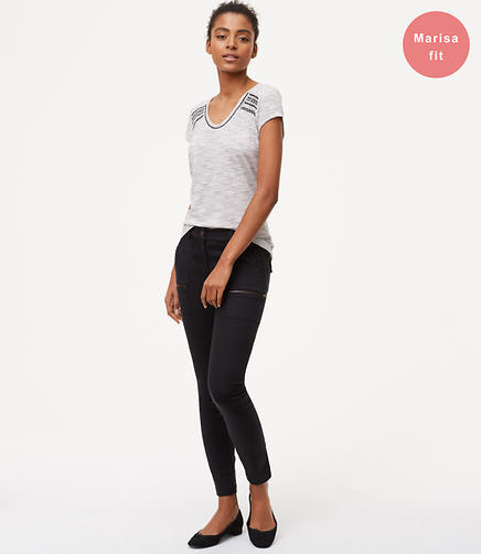 Image of Tall Zip Skinny Utility Pants
