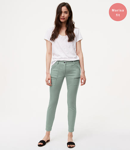 Image of Petite Zip Skinny Utility Pants in Marisa Fit