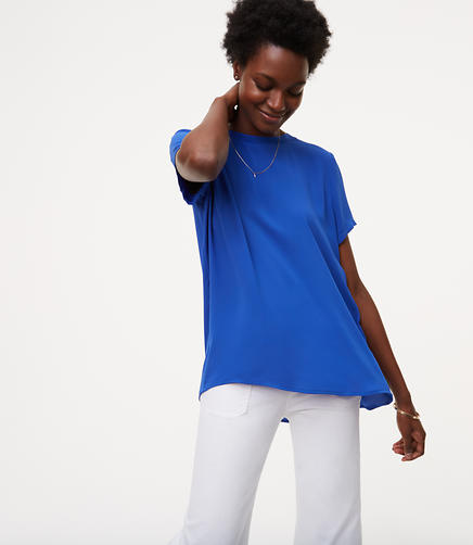 Image of Back Pleat Top