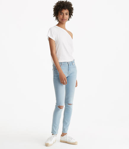 Image of Lou & Grey Destructed Skinny Jeans