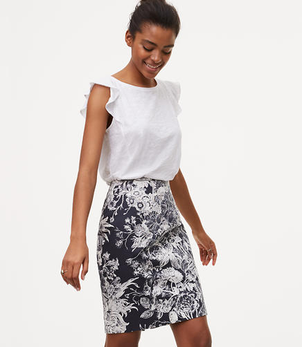 Image of Botanic Pencil Skirt