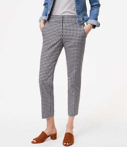 Image of Gingham Pencil Pants in Julie Fit