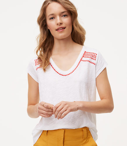 Image of Embroidered Vintage Soft Swing Tee