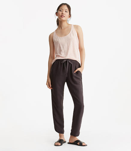 Image of Petite Lou & Grey Brushed Linen Drawstring Pants