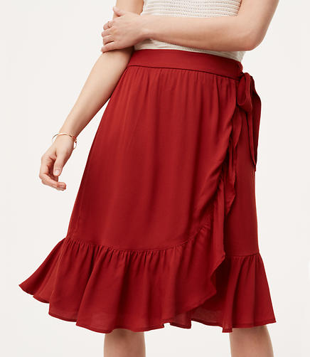 Image of Ruffle Wrap Skirt