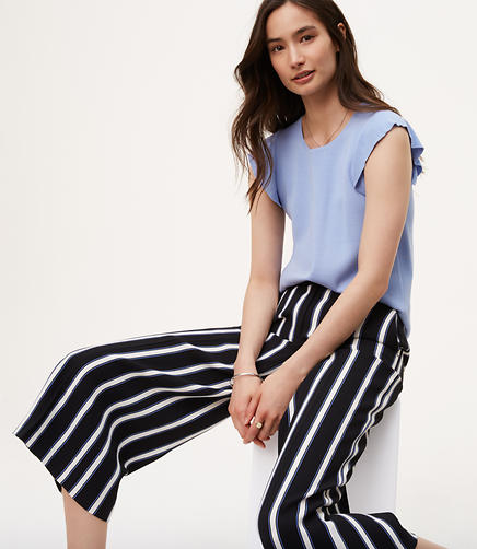 Image of Striped Culottes