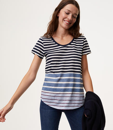 Mixed Stripe Vintage Soft Tee