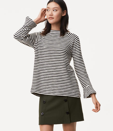 Striped Bell Sleeve Sweatshirt