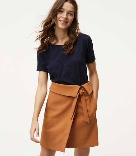 Image of Foldover Wrap Skirt
