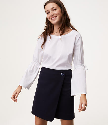 Image of Button Wrap Skirt
