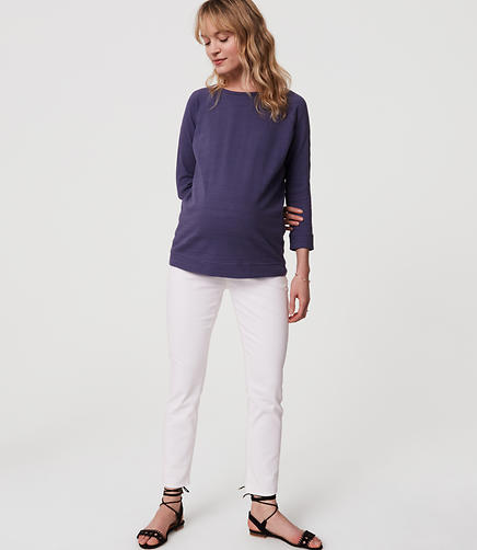 Image of Petite Maternity Skinny Jeans in White