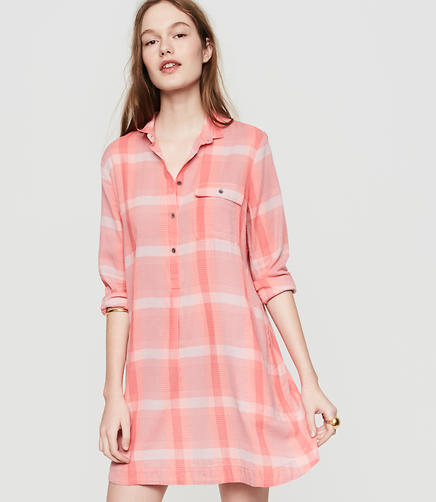 Image of Lou & Grey Plaid Shirtdress
