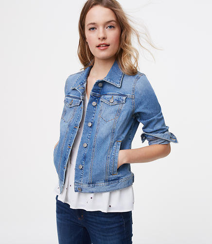 Image of Tall Denim Jacket in Staple Mid Indigo Wash