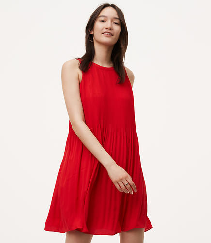 Image of Petite Pleated Swing Dress