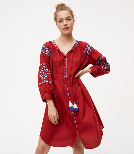 Image of Petite Bohemia Shirtdress