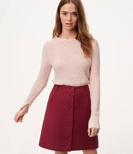 Marled Shirttail Sweater