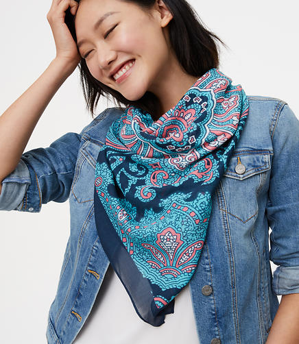 Image of Paisley Square Scarf