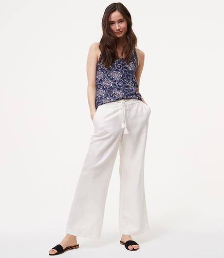 Image of Tall Wide Leg Pants in Linen Cotton