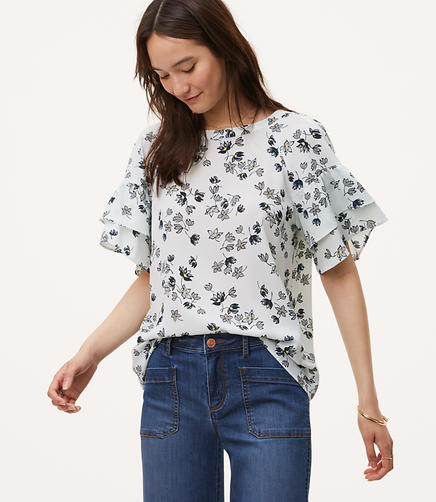Image of Fleur Tiered Sleeve Top