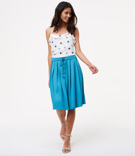 Image of Pleated Drawstring Skirt