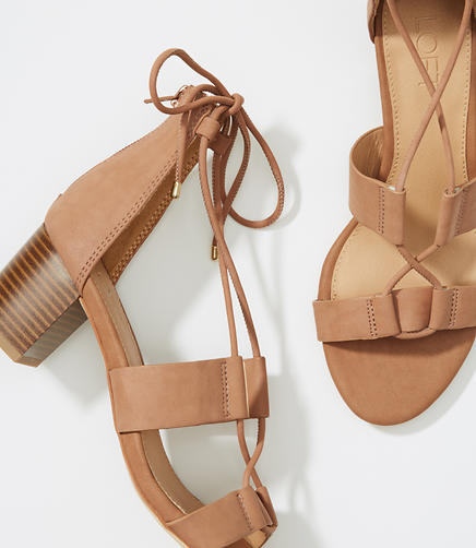 Image of Lace Up Block Sandals