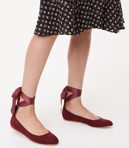 Image of Lace Up Ballet Flats