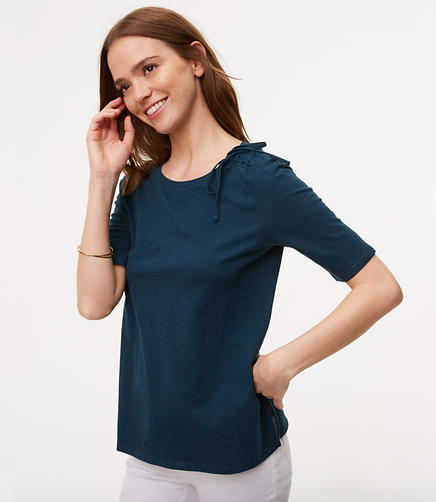 Image of Petite Tie Shoulder Vintage Soft Tee