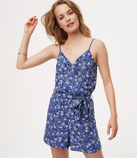 Image of Floral Wrap Romper